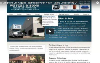 Cloud Computing Los Angeles Testimonial by Dan Wetzel – Hybrid Cloud Hosting LA