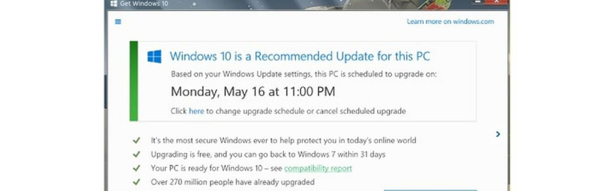 Windows 10 Upgrade Being Forced On You