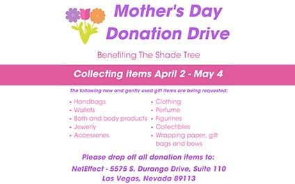 Help us Collect Donations for The Shade Tree's Annual Mother's Day Event