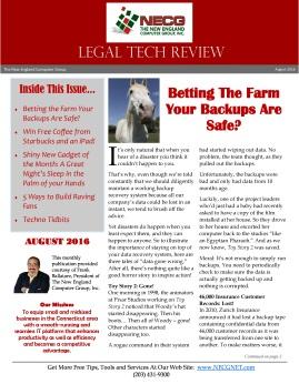 Newsletter - August 2016