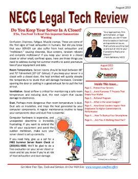 Newsletter - August 2015