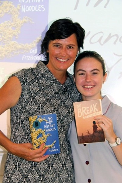 Deb Fitzpatrick and student