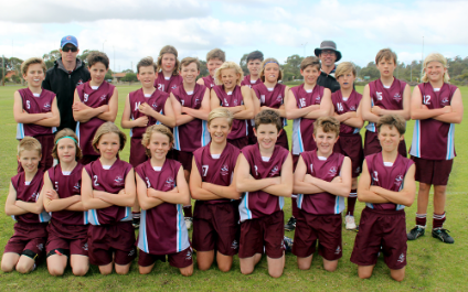 Year 7 students play in Freo Dockers Cup