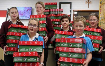 A record 137 Christmas shoeboxes