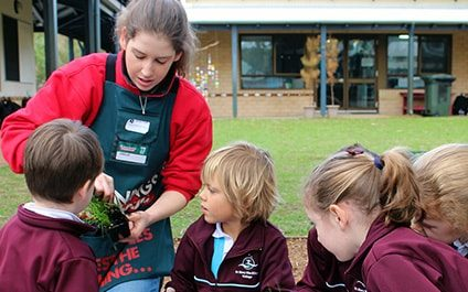 Pre Primary students plant interactive gardens