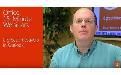 Office Webinar : 8 Great Timesavers in Outlook