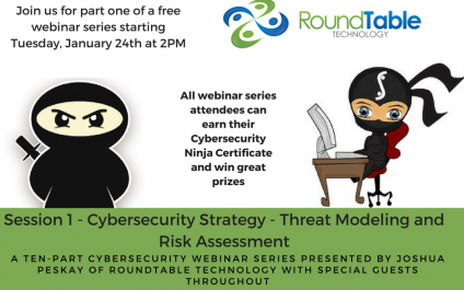 Upcoming Webinar Series–Become a Cybersecurity Ninja in only 10 sessions, every two weeks starting January 24th