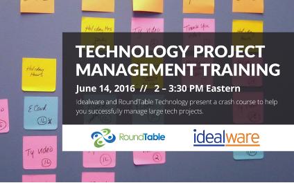 Webinar – Managing Tech Projects: A Nonprofit Crash Course