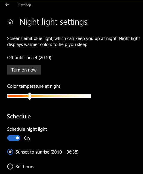 Windows-10-Night-Light-Setting