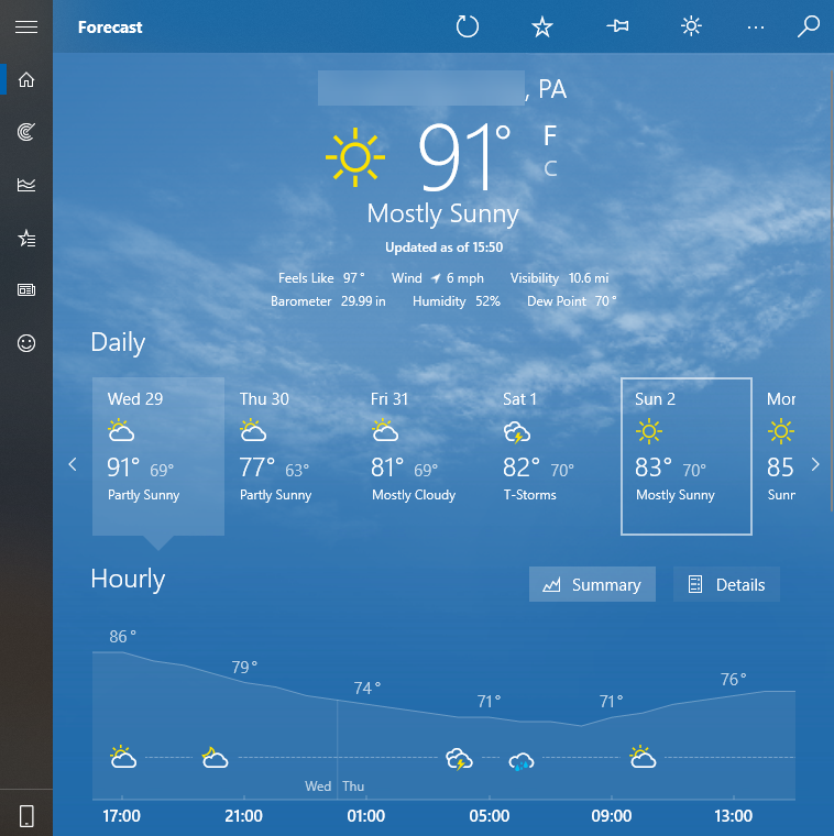 Windows-10-Weather
