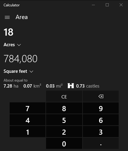Calculator-Area-Converter