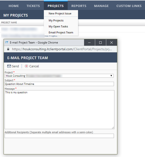 Client-Portal-Projects