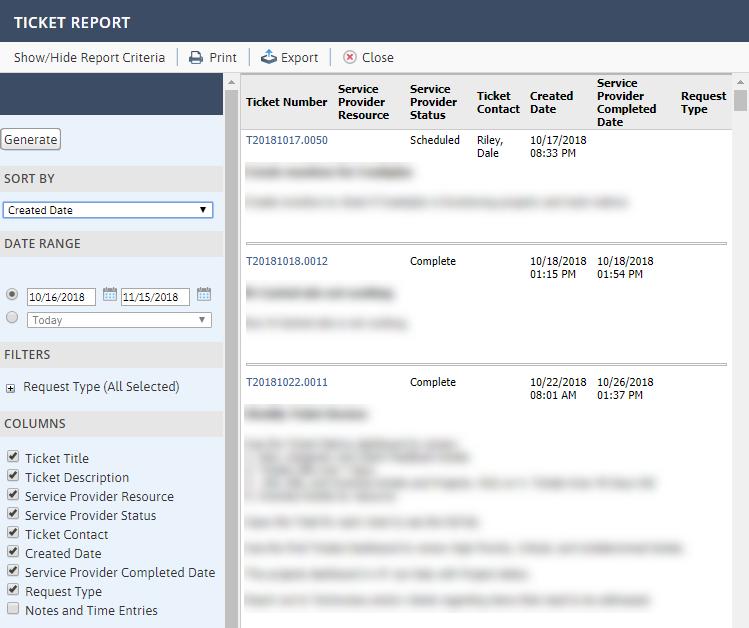 Client-Portal-Ticket-Report
