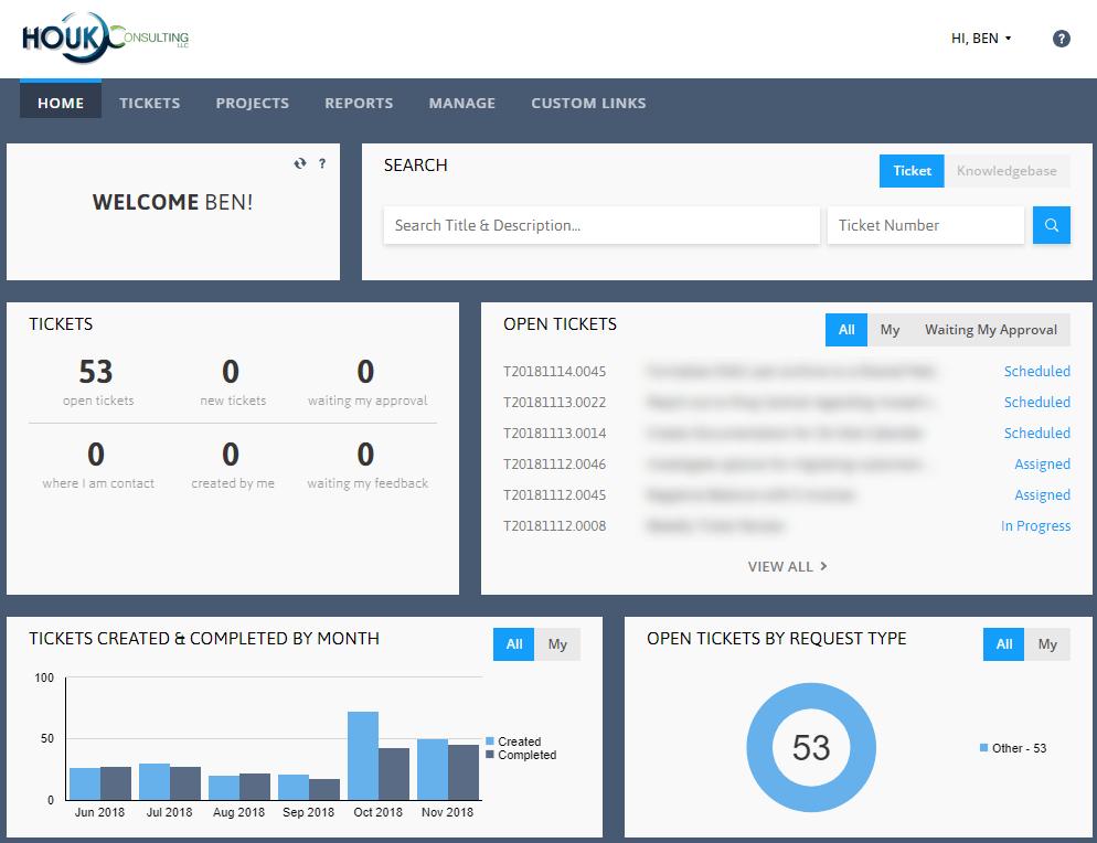 Houk-Client-Portal-Main-Screen