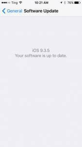 iOS Software Update Screen