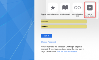 Microsoft Dynamics CRM Mobile Express for IOS and Android
