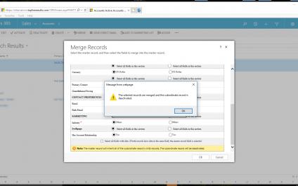 Merging Duplicates in Microsoft Dynamics 365