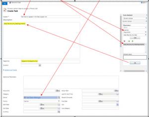 Microsoft Dynamics 365 Create Task