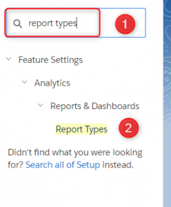 Salesforce Report Types