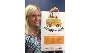 Stuff the Bus School Supplies Drop-off at DPC