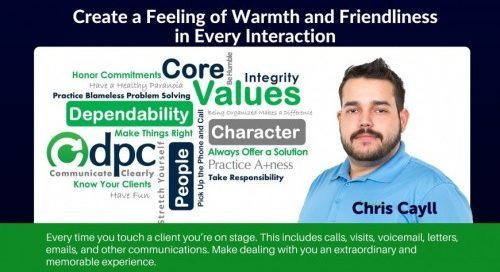 DPC Core Value / Behavior: Create a Feeling of Warmth and Friendliness in Every Interaction