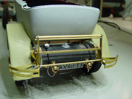 The rear bumperette on the MML 1:8 scale replica