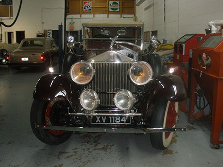 The actual car at the restoration facility