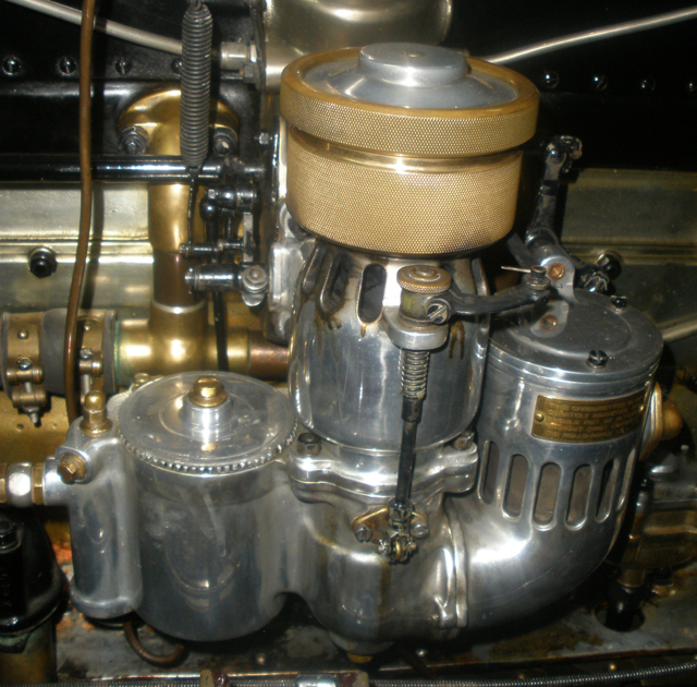 "The prototype carburetor on ""The Dutchess"""