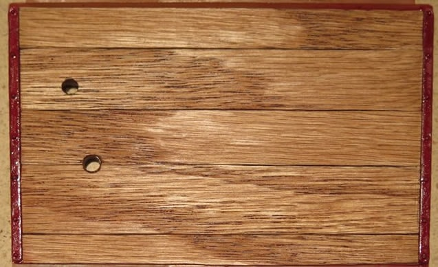Our Wood Veneer finished with Minwax and installed in Pocher Fiat floor