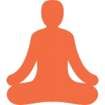 Yoga position for calming persona of having cyber essentials