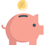 vector of piggy bank, showing savings of cyber essentials
