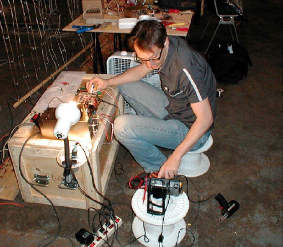 Matrix3: Here I am -- testing out a custom LED controller -- for 6,000 LEDs!