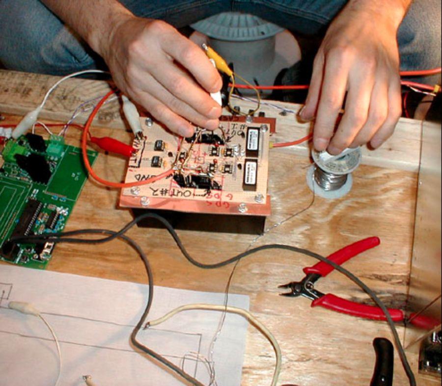 Matrix3: Close-up of custom LED controller.