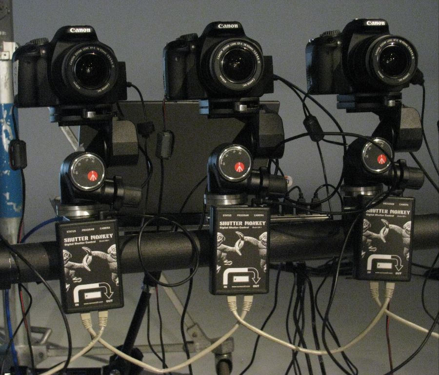 Each camera is controlled by a single SM module.