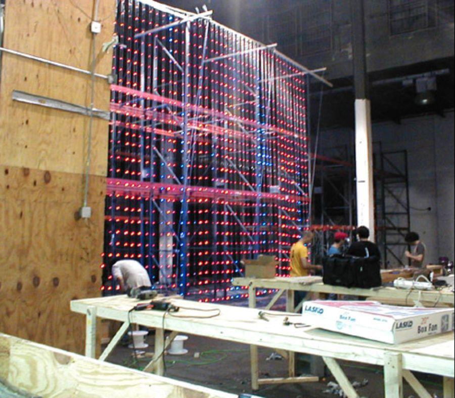 Matrix3: Production of the artwork.
