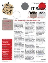 Summer 2011 IT Radix Resource Newsletter