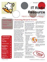 Fall 2011 IT Radix Resource Newsletter