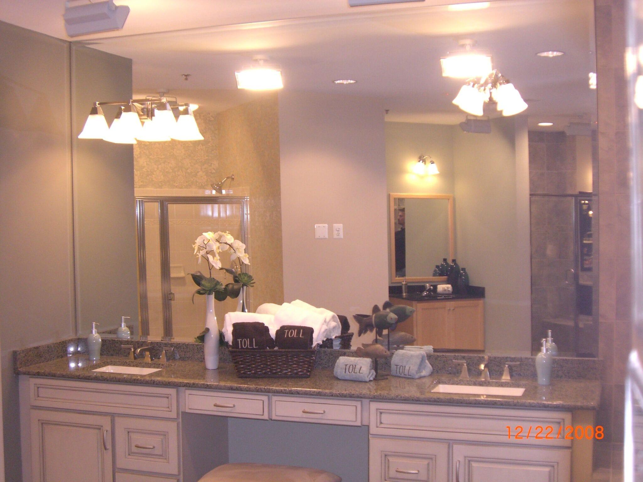 Bathroom Vanity Mirror w. Light cutouts 2-min