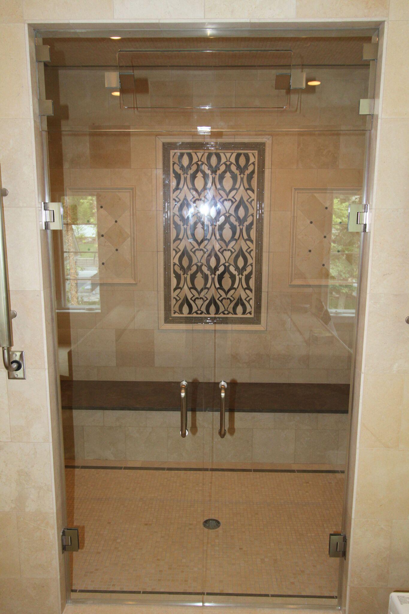 Double Door Steam Shower-min - Bel Pre Glassworks