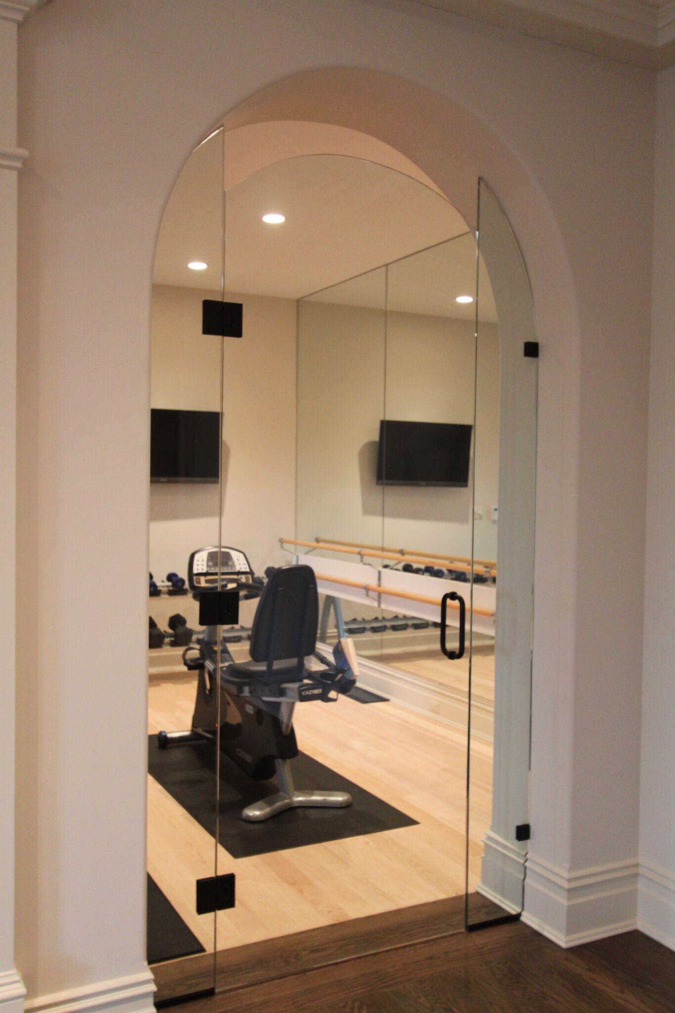 Frameless Exercise Room Entry Door 2-min