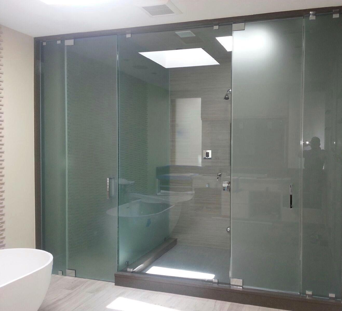 Frameless Shower & Toilet Area combo 6.6.14-min
