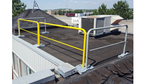 Rooftop Guardrail Fall Protection System