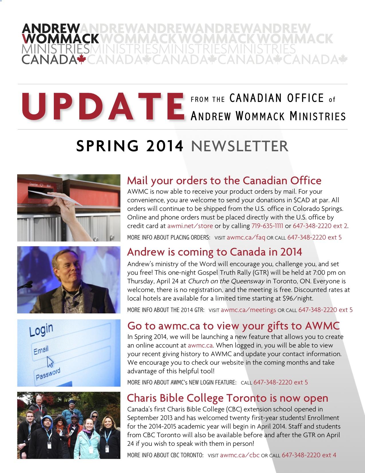 AWMC Spring 2014 Newsletter