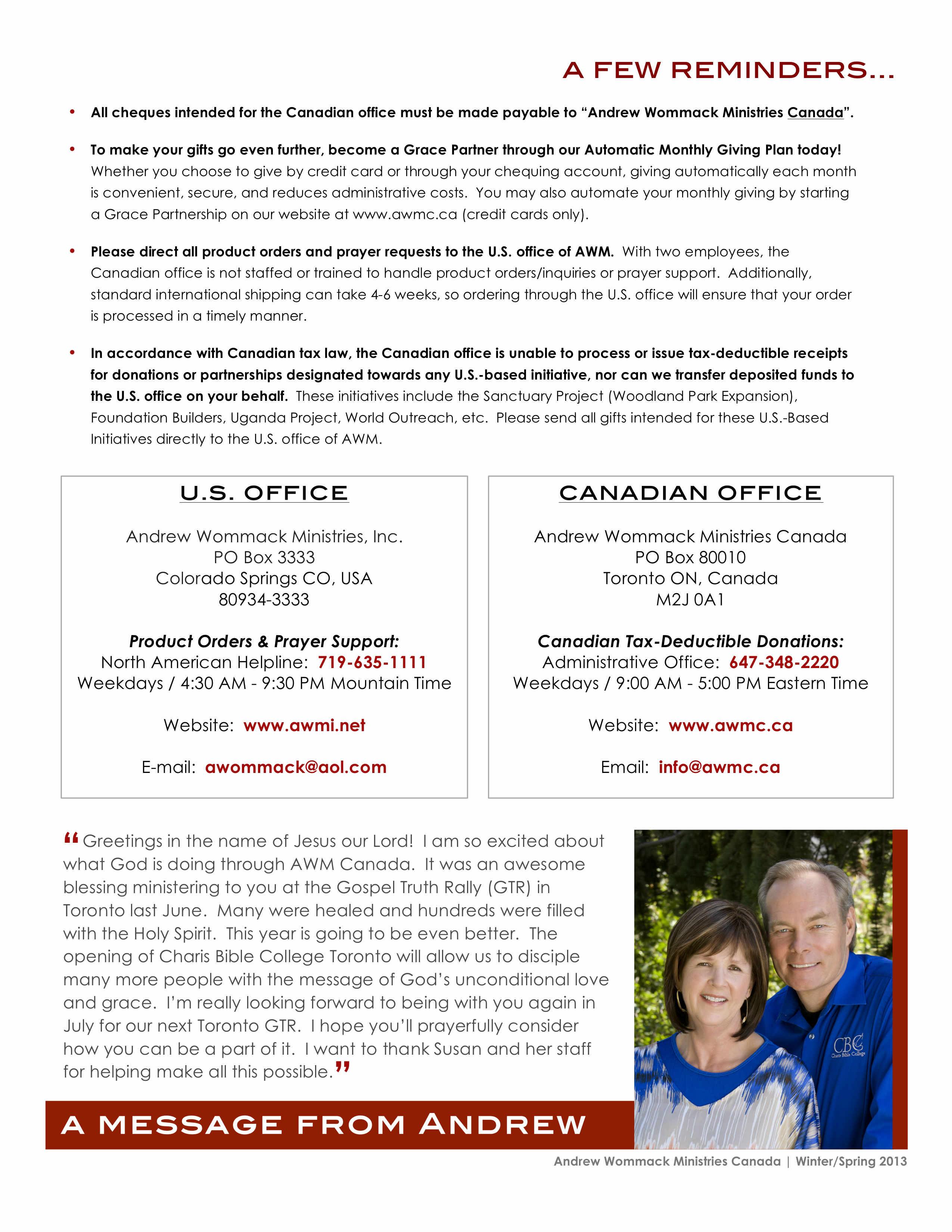 AWMC Winter/Spring 2013 Newsletter