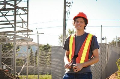 Staff on municipal hydro site