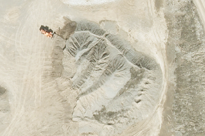 Overhead view of quarry