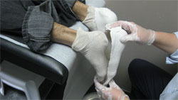 Foot orthotic casting