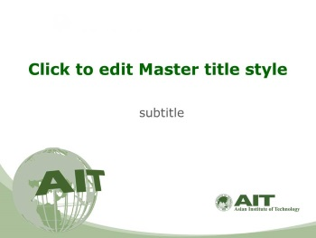 Presentation template | Asian Institute of Technology