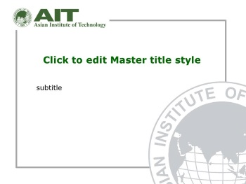presentation template asian institute of technology