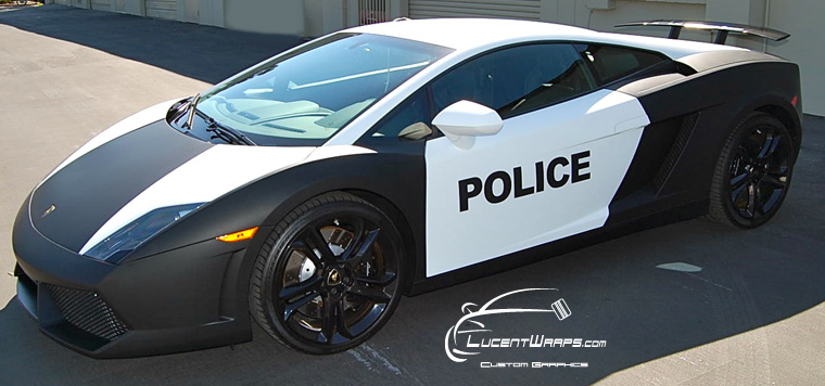 Lamborghini Matte Black Matte White Wrap Lucent Wraps